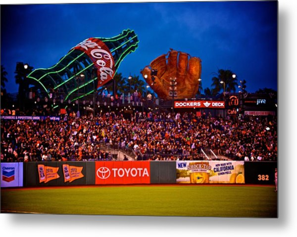 The Coke And Glove Metal Print