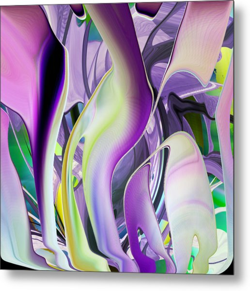 The Color Of Iris - Digital Abstract Art Metal Print