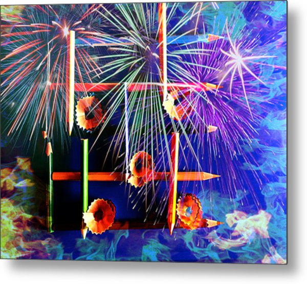 The Color Of Music Metal Print by Jill Bartlett