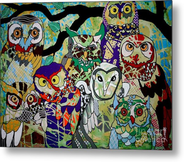 The Color Of Owls Metal Print