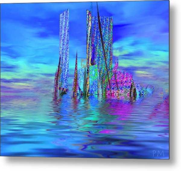 The Colors Have Went Out To Sea. Metal Print