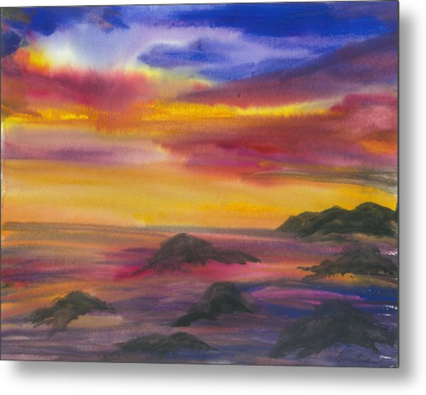 The Colors Of Life Metal Print by Karen  Condron