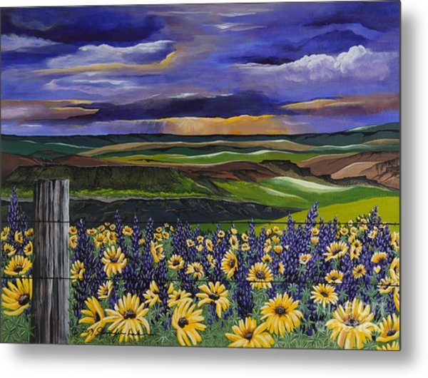 The Colors Of The Plateau Metal Print
