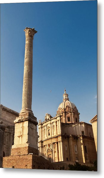 The Column Of Phocus Metal Print