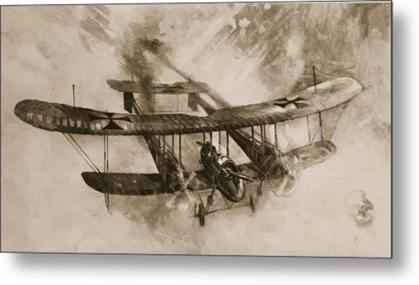 German Biplane From The First World War Metal Print