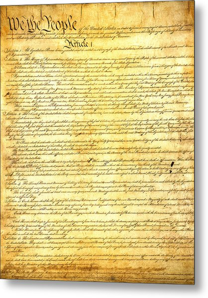 The Constitution Of The United States Of America Metal Print