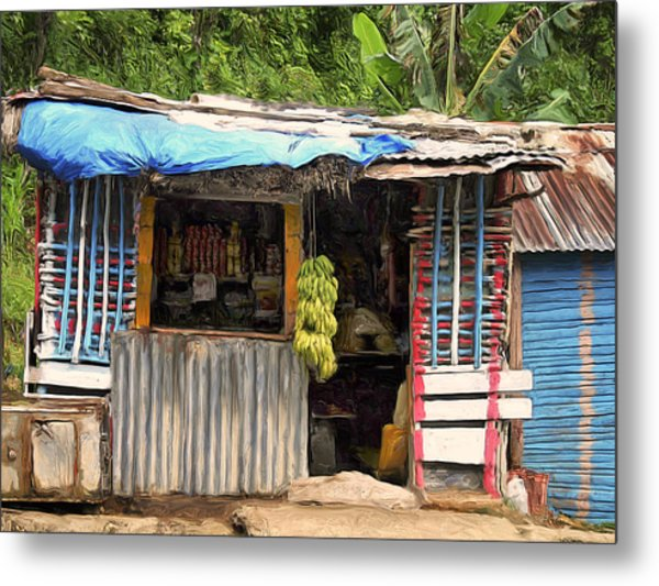 The Corner Market Metal Print