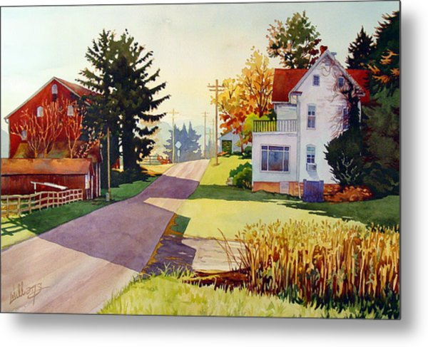 The Country Road Metal Print
