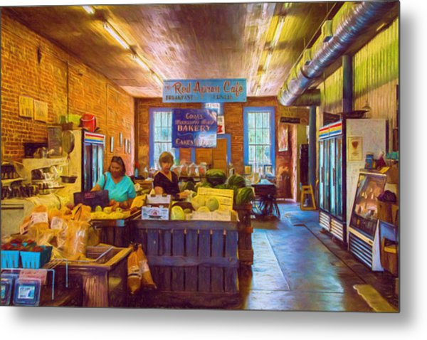 The Country Store - Impressionistic - Nostalgic Metal Print by Barry Jones