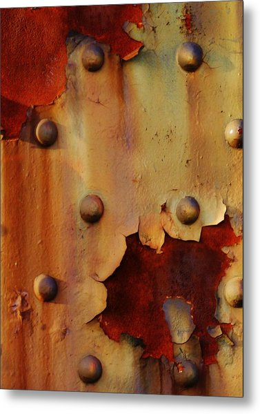 The Course Of Rust Metal Print by Charles Lucas