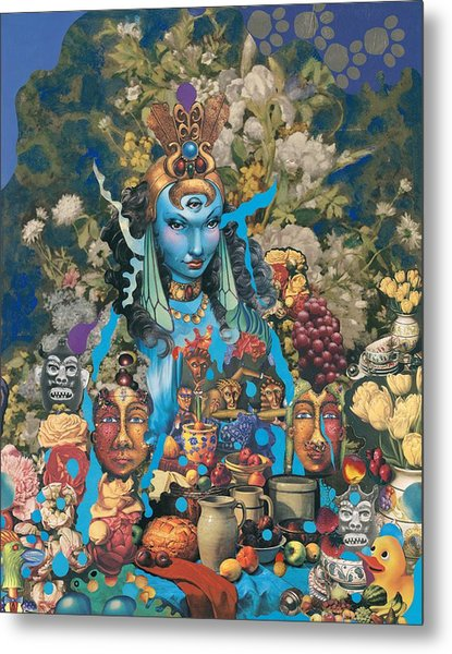 The Court Of The Blue Princess Metal Print