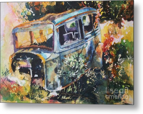 The Courting Car Metal Print