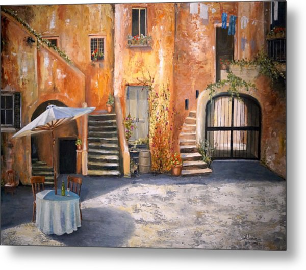 The Courtyard Metal Print
