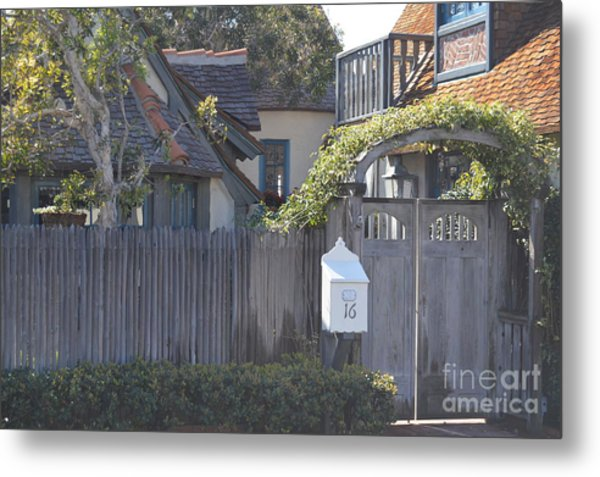 Metal Print featuring the photograph The Courtyard  by Laurie Lundquist