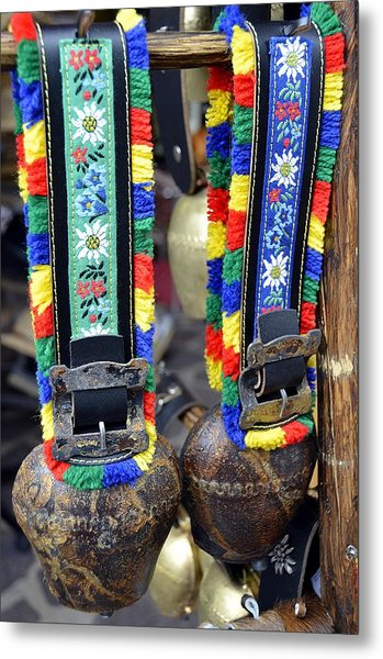 The Cow Bells From Tyrol Metal Print