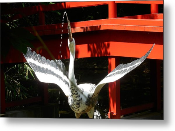 The Crane Fountain Metal Print