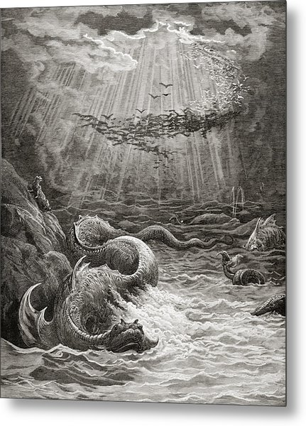 The Creation Of Fish And Birds Metal Print