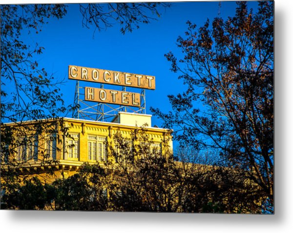 The Crockett Hotel Metal Print