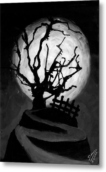 The Crooked Tree Metal Print