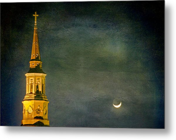 The Cross And The Crescent Metal Print