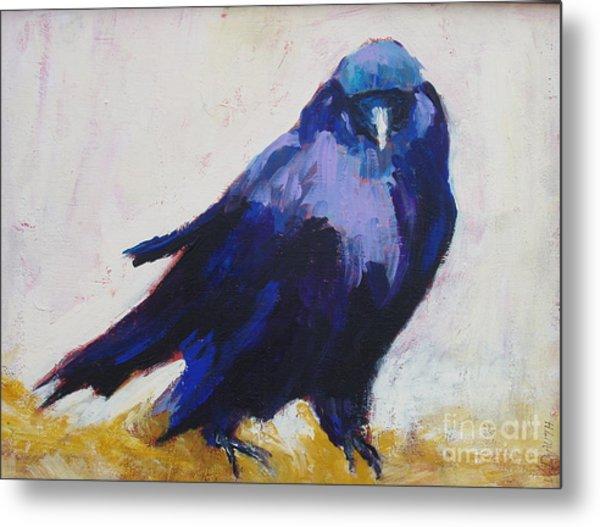 The Crow Metal Print by Virginia Dauth