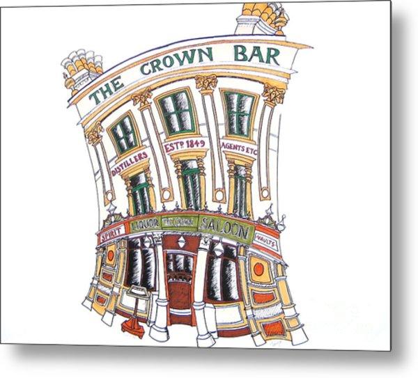 The Crown Bar Belfast Metal Print by Tanya Mai Johnston
