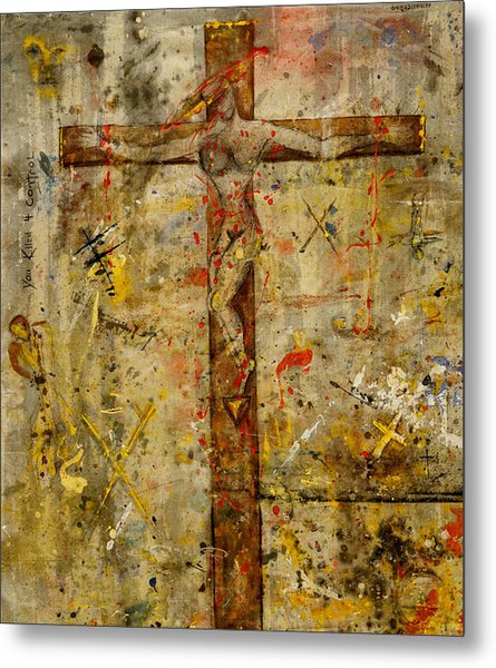 the Crucifying of the Sacred Feminine  Metal Print