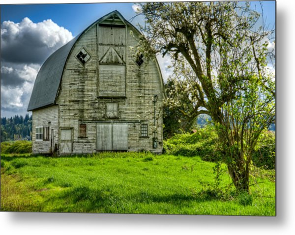 The Crying Barn Metal Print