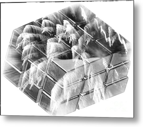 The Cube - Abstract - Ile De La Reunion - Reunion Island - Indian Ocean Metal Print by Francoise Leandre
