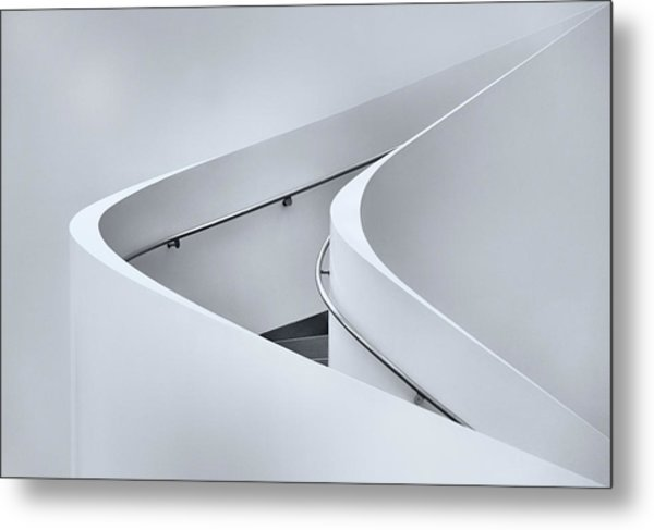The Curved Stairs Metal Print