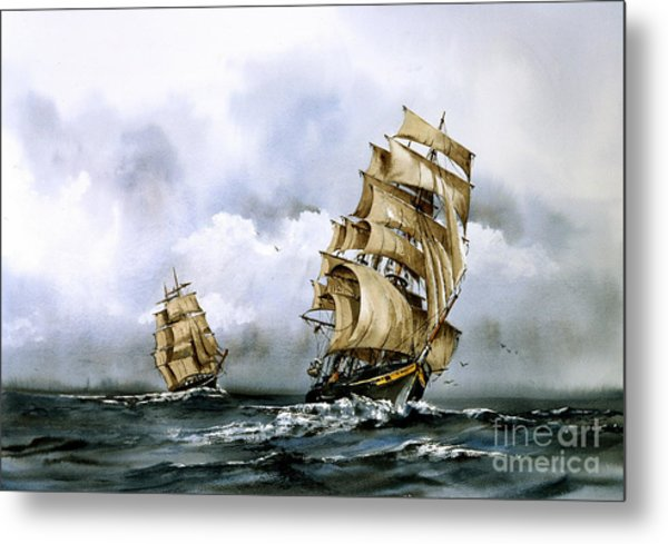 The Cutty Sark And The Red Clipper Metal Print
