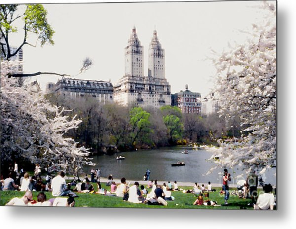 The Dakota From Central Park Metal Print by Linda  Parker