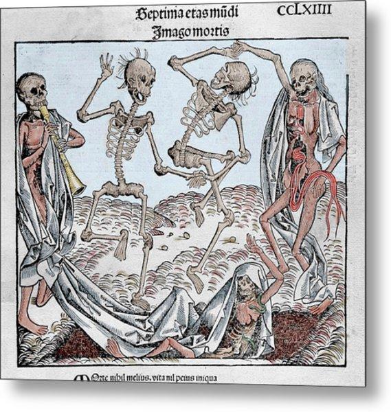 The Dance Of Death (1493 Metal Print