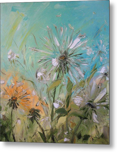 The Dandelions Metal Print by Solomoon Art Studio