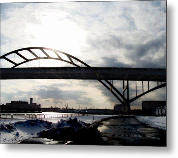 The Daniel Hoan Memorial Bridge Metal Print by David Blank