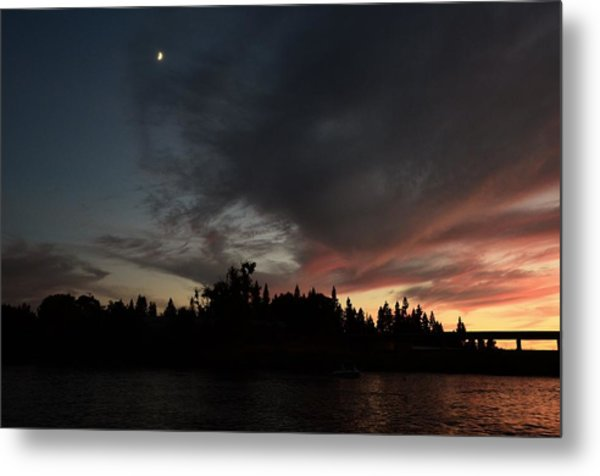 The Dark Side Of The Sunset Metal Print
