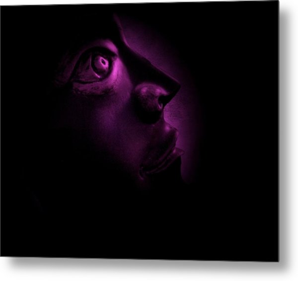 The Darkest Hour - Magenta Metal Print