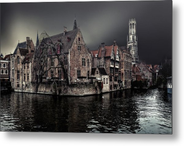 The Darkness Of Winter Cold Metal Print