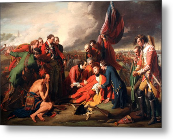 The Death Of General Wolfe Metal Print