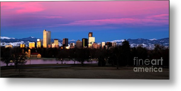 The Denver Skyline Metal Print