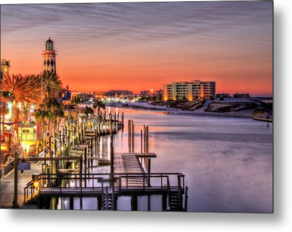 The Destin Harbor Walk Metal Print