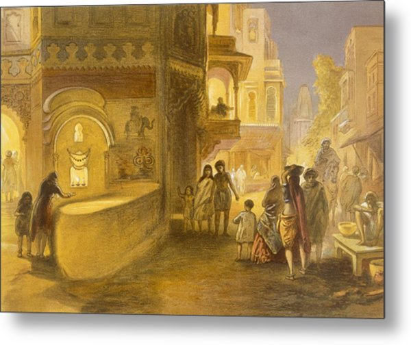 The Dewali Or Festival Of Lamps Metal Print