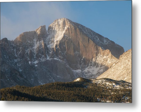 The Diamond Face Of Longs Peak Metal Print