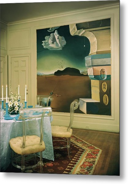 The Dining Room Of Princess Gourielli Metal Print