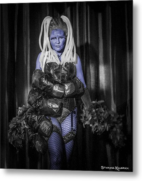 The Diva Blue Metal Print