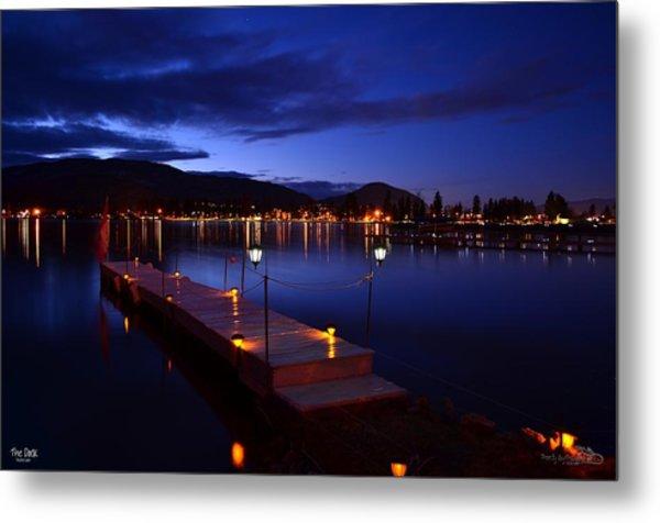 The Dock At Night- Skaha Lake 02-21-2014 Metal Print