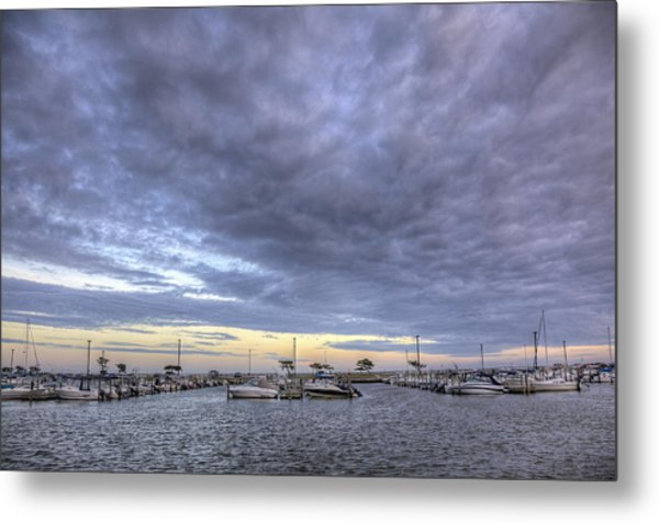 The Docks At Bay Shore Metal Print