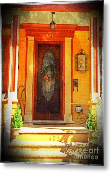 The Door 1 Metal Print by Becky Lupe