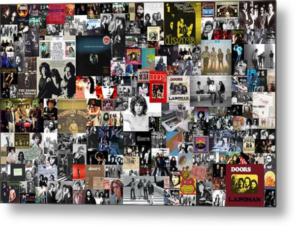 The Doors Collage Metal Print