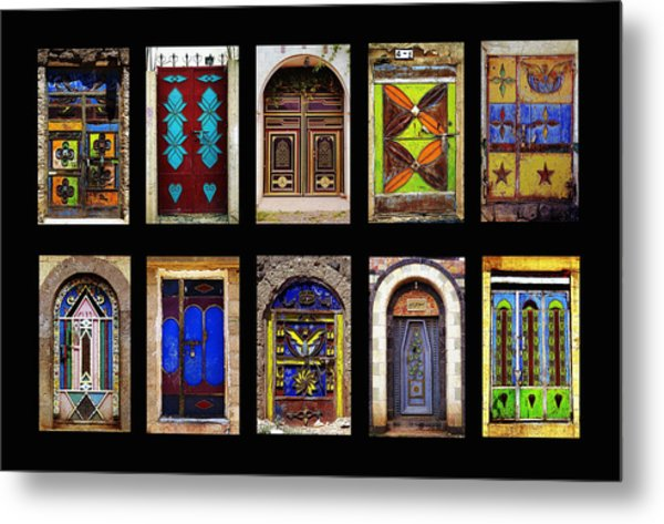 The Doors Of Yemen Metal Print